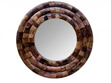 Varaluz 405A10 - Wine Country Reclaimed Wood Circular Mirror