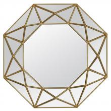Varaluz 408A02 - Geo Octagonal Accent Mirror - Aged Gold